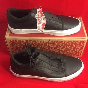 Vans Old Skool Black Leather Men's 11.5